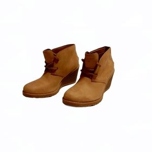 Sperry Top Sider Tan Yelow Lwather Calf Boots Boot
